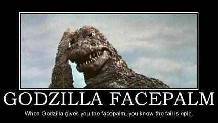 Godzilla facepalm 1